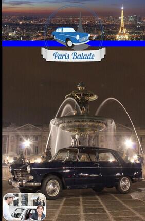 BALADE RIVE GAUCHE VIP EN PEUGEOT 404 DE 1963