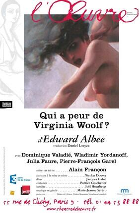 QUI A PEUR DE VIRGINIA WOOLF ? (Théâtre de l'Oeuvre)