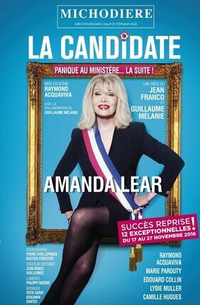 LA CANDIDATE AVEC AMANDA LEAR (Theatre de la Michodiere)