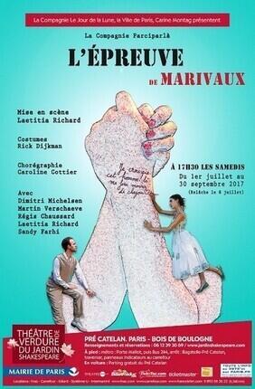L'EPREUVE, DE MARIVAUX (Theatre de Verdure du Jardin Shakespeare)