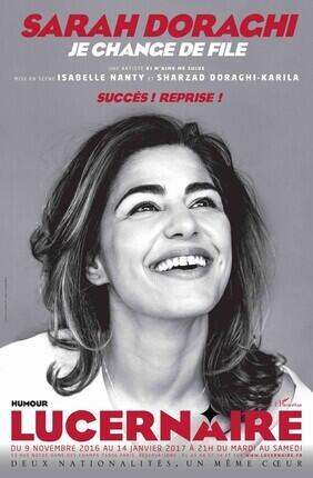 SARAH DORAGHI DANS JE CHANGE DE FILE (Lucernaire)