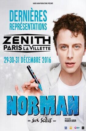 NORMAN SUR SCENE AU ZENITH DE PARIS