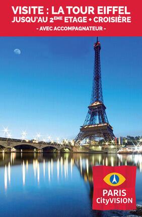 VISITE : LA TOUR EIFFEL JUSQU'AU 2EME ETAGE + CROISIERE AVEC ACCOMPAGNATEUR