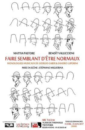 FAIRE SEMBLANT D'ETRE NORMAUX