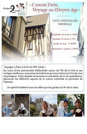 VISITE GUIDEE : C'ESTOIT PARIS ! VOYAGE AU MOYEN-AGE AVEC HISTOIRES2MUSES