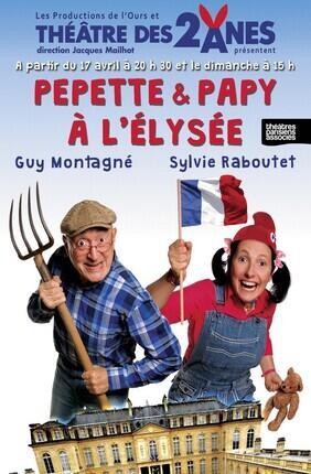 PEPETTE ET PAPY A L'ELYSEE AVEC GUY MONTAGNE