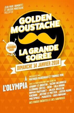 LA GRANDE SOIREE GOLDEN MOUSTACHE - FESTIVAL D'HUMOUR DE PARIS