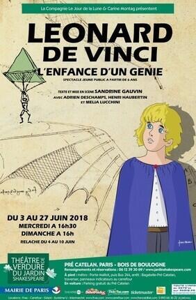LEONARD DE VINCI, L'ENFANCE D'UN GENIE (THEATRE DE VERDURE DU JARDIN SHAKESPEARE)