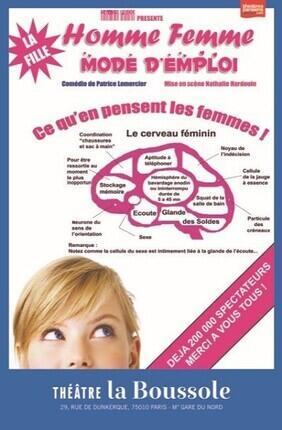 HOMME FEMME MODE D'EMPLOI : LA FILLE (Theatre La Boussole)