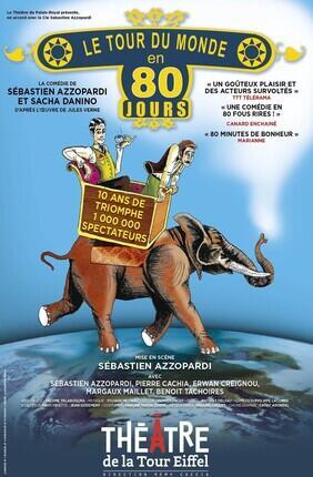 LE TOUR DU MONDE EN 80 JOURS LA COMEDIE DE SEBASTIEN AZZOPARDI ET SACHA DANINO