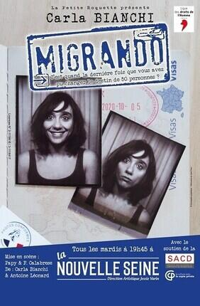 CARLA BIANCHI A LA NOUVELLE SEINE DANS MIGRANDO