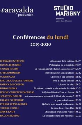 CONFERENCES DU LUNDI : PASCAL BRUCKNER Philosophie de la longévité