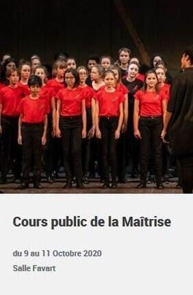 COURS PUBLIC DE LA MAITRISE POPULAIRE DE L'OPERA COMIQUE