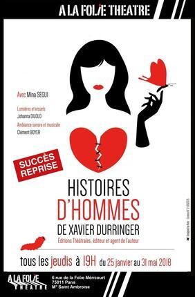HISTOIRES D'HOMMES (A la Folie Theatre)