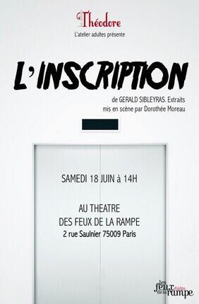 L'INSCRIPTION