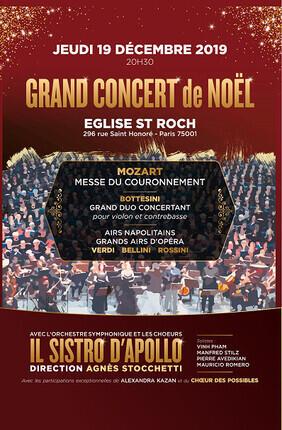 GRAND CONCERT DE NOEL A L'EGLISE SAINT ROCH