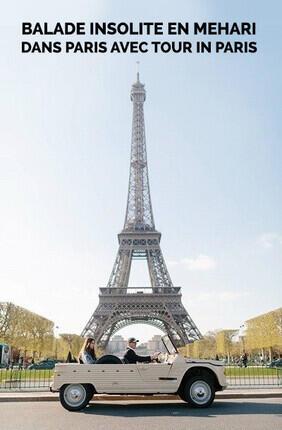 BALADE INSOLITE EN MEHARI DANS PARIS AVEC TOUR IN PARIS