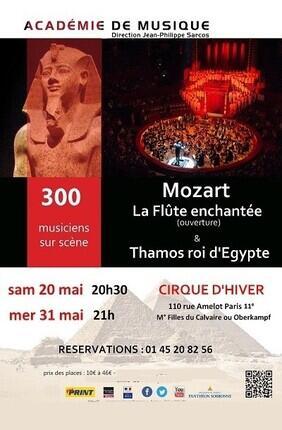 LA FLUTE ENCHANTEE ET THAMOS, ROI D'EGYPTE
