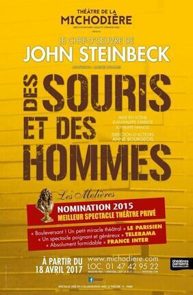 DES SOURIS ET DES HOMMES (Theatre de la Michodiere)