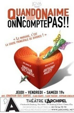 QUAND ON AIME, ON N'COMPTE PAS (L'Archipel)