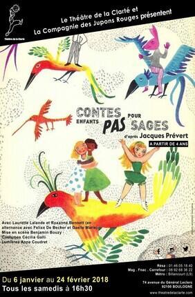 CONTES POUR ENFANTS PAS SAGES (Theatre de la Clarte)