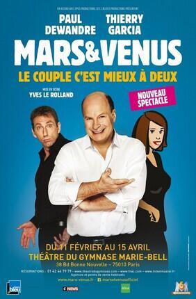 MARS ET VENUS : LE COUPLE C'EST MIEUX A DEUX (Theatre du Gymnase)