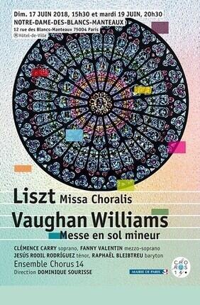 LISZT : MISSA CHORALIS - VAUGHAN WILLIAMS : MESSE EN SOL MINEUR