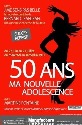 50 ANS, MA NOUVELLE ADOLESCENCE