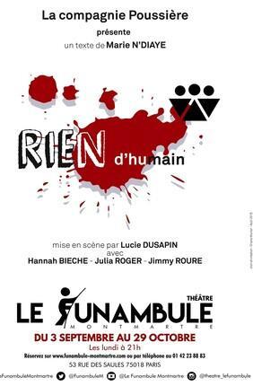 RIEN D'HUMAIN DE MARIE NDIAYE