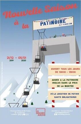 PATINOIRE - TOIT DE LA GRANDE ARCHE DE LA DEFENSE