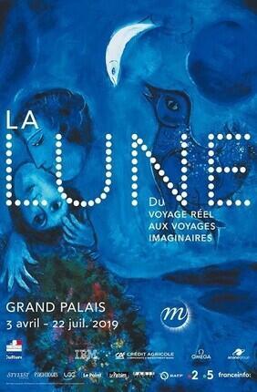 EXPOSITION LA LUNE AU GRAND PALAIS - BILLET COUPE FILE
