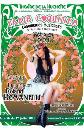 PARIS COQUINES - COQUINERIES MUSICALES DE RONSARD à GAINSBARD