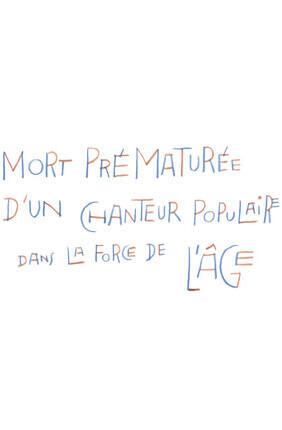 MORT PREMATUREE D'UN CHANTEUR... DE WAJDI MOUAWAD AVEC ARTHUR H