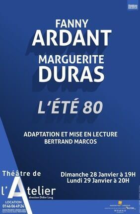FANNY ARDANT LIT MARGUERITE DURAS - L'ETE 80