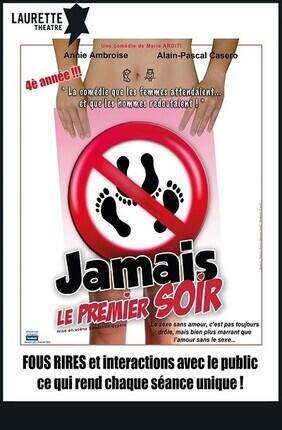 JAMAIS LE PREMIER SOIR Au Laurette Theatre Paris